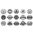 brewery beer badges craft beers emblems hop vector image vector image