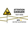 caution hands may be injured warning sign safety vector image vector image