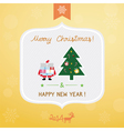 Christmas greeting card4 vector image vector image