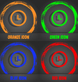 clock icon Fashionable modern style In the orange vector image vector image
