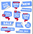 collection blue sale stickers and tags vector image vector image
