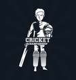 cricket player icon vector image