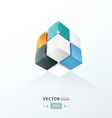 Cube Worm View orange blue and black vector image vector image