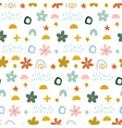 cute simple pattern with different hand painted vector image