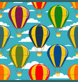different colorful air balloons seamless pattern vector image vector image