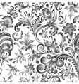 doodle paisley seamless pattern gradient floral vector image vector image
