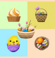 easter concept with holiday attributes vector image vector image