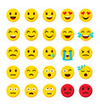 emoji set emoticon cartoon emojis symbols digital vector image vector image