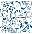 equipment for winter and summer sports seamless vector image vector image
