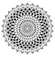 ethnic mandala from simple shapes isolated on vector image vector image