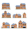 family house set vector image vector image