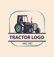 farm tractor logo agriculture farm vector image vector image