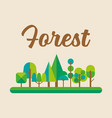 forest in flat style graphic design vector image