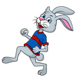 Funny Rabbit running vector image vector image