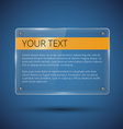 Glossy banner on blue vector image