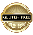 Gluten Free Gold Label vector image vector image