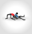 greco roman sport fighting game black and vector image vector image