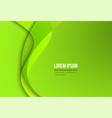 green contrast corporate waves background vector image