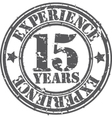 Grunge 15 years of experience rubber stamp