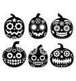 halloween pumpkin desgin - sugar skull vector image vector image