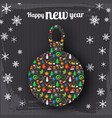 happy new year celebrate poster vector image vector image