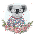 hipster koala 380 vector image vector image