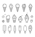 icon set yummy ice cream vector image vector image