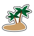 island with palm trees icon image vector image vector image