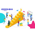 isometric movement towards a goal vector image vector image