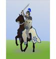 knight on horseback vector image vector image