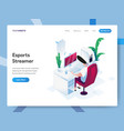 landing page template esports streamer vector image vector image