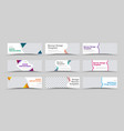 large set horizontal white web banners vector image vector image