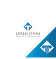 law firm logo design icon law firm vector image vector image