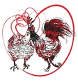 love the cock and hen vector image