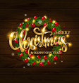 Merry christmas alligraphic greeting card