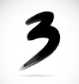 Numbers three vector image vector image