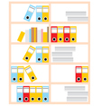 office cupboard vector image vector image