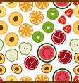 pattern of flat seasonal fruits vector image