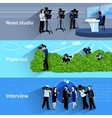 Photographer And Videographer Banners Set vector image vector image