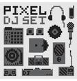 Pixel art dj set vector image vector image