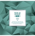 Polygonal icon Cover background graphic vector image