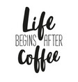 poster with decorative coffee lettering vector image vector image