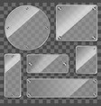 realistic 3d various glass frames on a transparent vector image