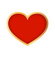 red heart on white background symbol of love vector image vector image