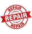 repair round grunge ribbon stamp vector image vector image