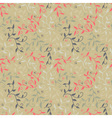 Seamless floral pattern with twigs and small vector image vector image