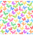 seamless pattern with bright butterflies on vector image vector image