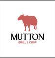 sheep logo mutton lamb food vector image vector image