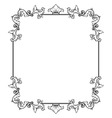 simple decorative frame vector image