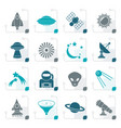 stylized astronautics space and universe icons vector image vector image